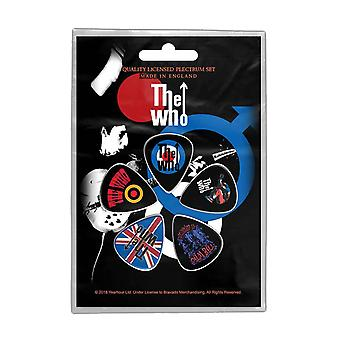 The Who Plectrum Pack Pete Townsend Band Logo new Official 5 Pack Guitar Picks