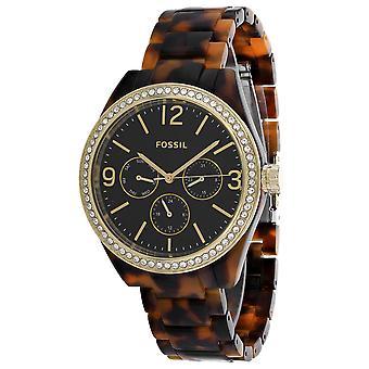 FossilE Frauen's Caleigh Black Dial Uhr - BQ3344