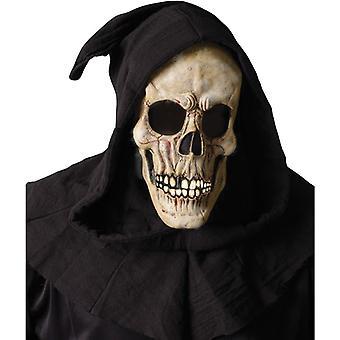 Svepning skalle Mask öppen mun för Halloween
