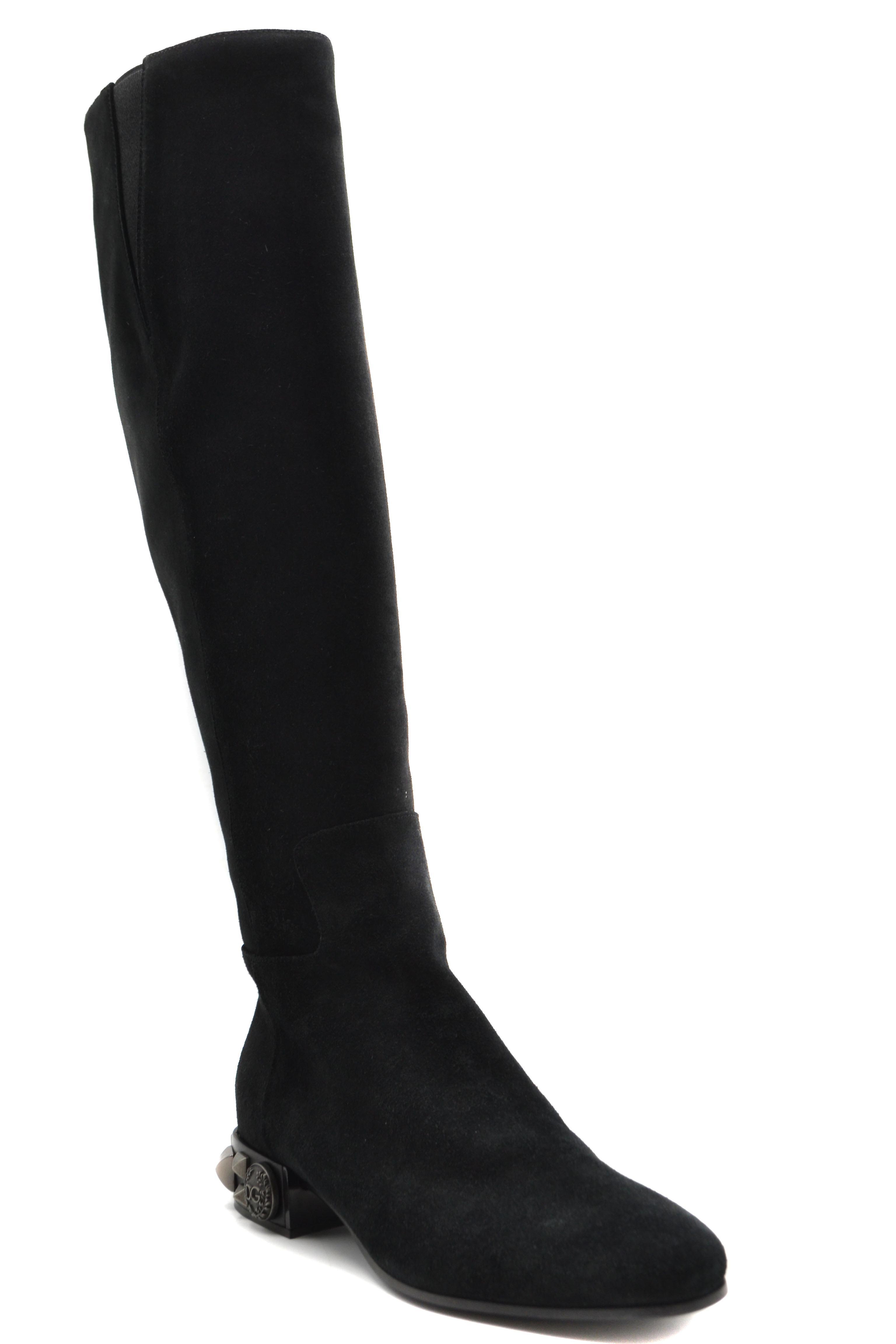 Dolce E Gabbana Ezbc006220 Women's Black Suede Boots