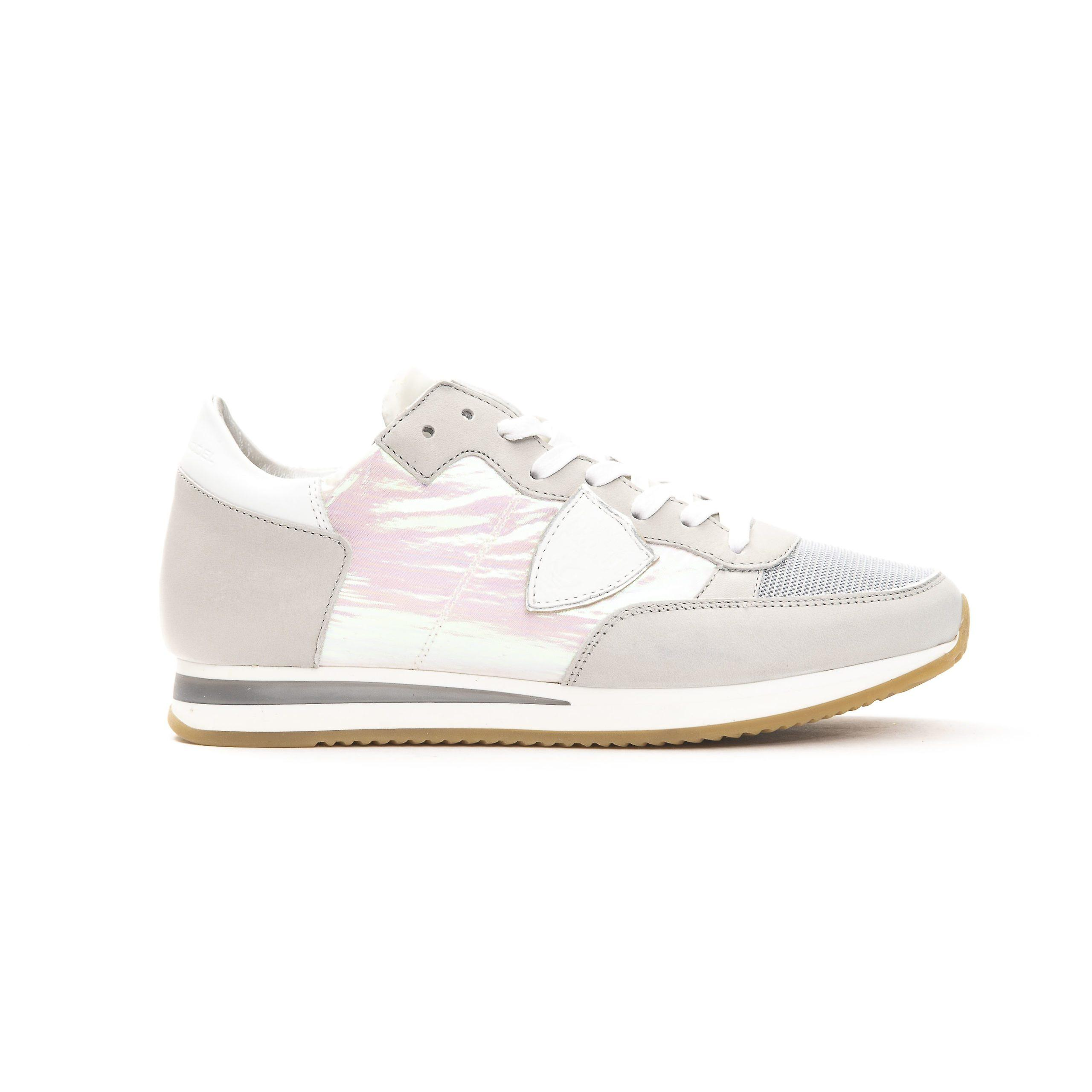 Philippe Model Argento Silver Suede Sneakers To1AD