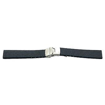 Sangle de montre de plongée iso suisse, typhon en caoutchouc vulcanisé 18mm, 20mm et 22mm