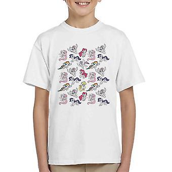 My Little Pony Flying Montage Kid's T-Shirt