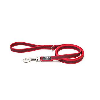 """Julius-K9 Color & Grey Super-Grip Leash Red-Grey Width (0.7"""" / 20mm) Length (6ft / 1.8 m) With Handle and """"D"""" ring , Max for 110lb/ 50 kg Dog"""