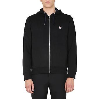Ps By Paul Smith M2r360razebra79 Men's Black Cotton Sweatshirt