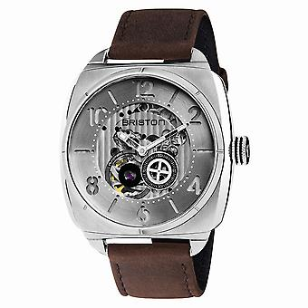 Briston 201042.S.SK.2.C Streamliner Skeleton Brown Strap Automatic Wristwatch