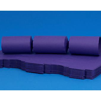 100 Rich Purple Make & Fill Your Own DIY ReyClable Christmas Cracker Boards
