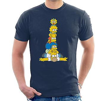 The Simpsons Family Stack Men's T-Shirt