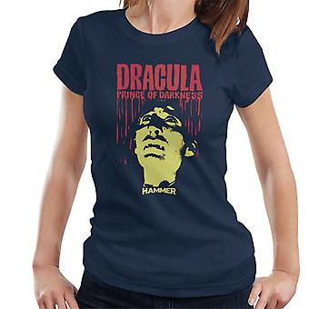Hammer Dracula Prince Of Darkness Poster Women's T-Shirt