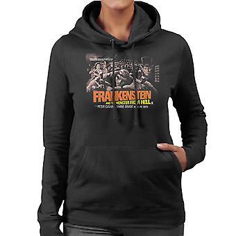 Hammer Horror films Frankenstein monster uit de hel Grab vrouwen ' s Hooded Sweatshirt
