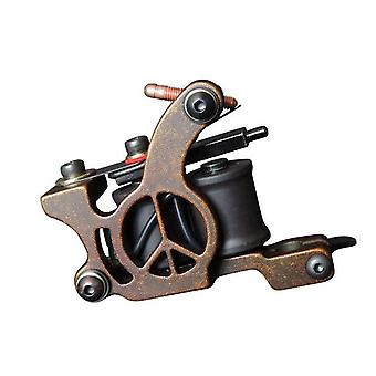 S Wire Cutting 10 Wrap Coils Tattoo Machine For Liner And Shader Black Color Iron Tattoo