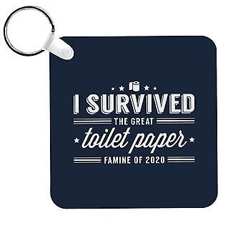 Selvisin Suuri WC-paperi nälänhätä 2020 avaimenperä
