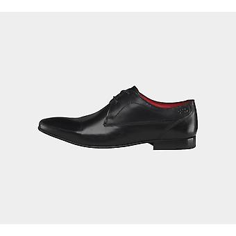 Base London Button Pv03010 Waxy Black Mens Shoes Boots