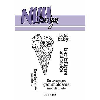 NHH Design Ice Cream Cone Clear Stamps