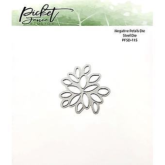 Picket Fence Studios Negative Flower Petals Die