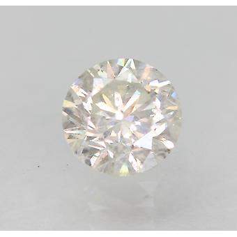 Zertifiziert 0.70 Carat H SI1 Round Brilliant Enhanced Natural Loose Diamond 5.44mm