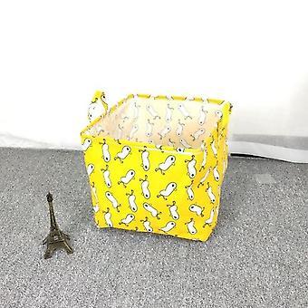 Cube Folding Laundry Basket Toy, Book Storage Basket, Sundries Clothes
