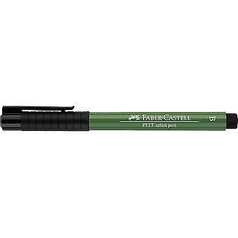 Faber Castell Indian Ink Artist Pen Brush 167 Permanent Olive Green