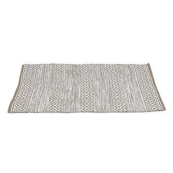 Country Club PET Rug Diamond Stripe, Stone 70 x 130cm