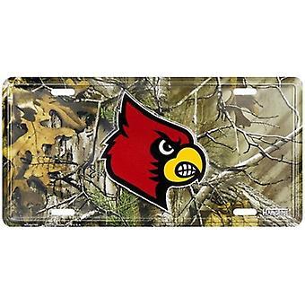 Louisville Cardinals NCAA Camo License Plate