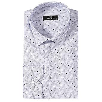 Dot-patterned white shirt | wessi