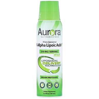 Aurora Nutrascience, Micro-Liposomal R-Alpha Lipoic Acid, Organic Fruit Flavor,