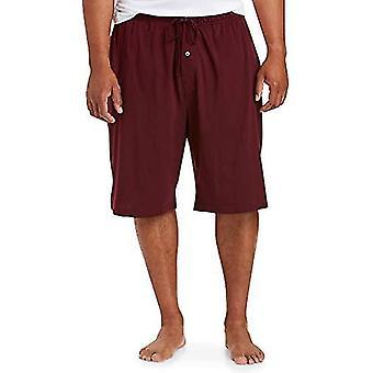 Essentials Men's Big & Tall Knit Pajama Short Shorts, -Burgundy, 2XL