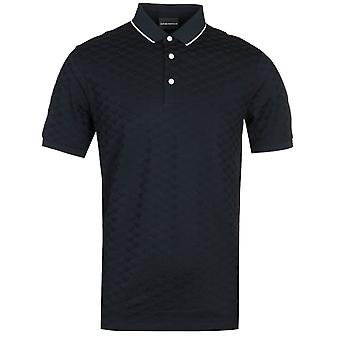 Emporio Armani All Over Navy Polo Shirt