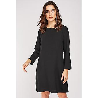 Shift Dress With Lace Insert
