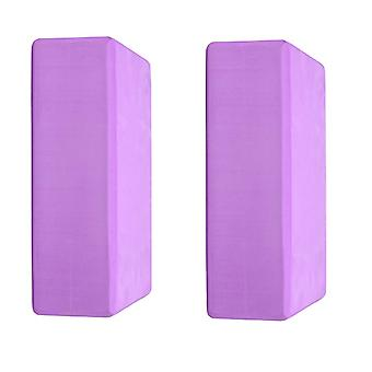 Ganvol Set of 2 Footrest Blocks, Foot Support Bricks 22x14x7.5cm 180g, Purple