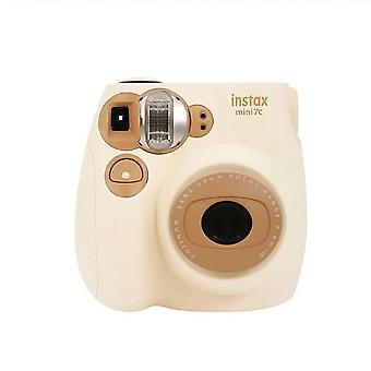 2 Color Film Instax Mini 7c Camera Coffee And Pink Color For Polaroid Instant Photo Camera Film (coffee Camera Only)