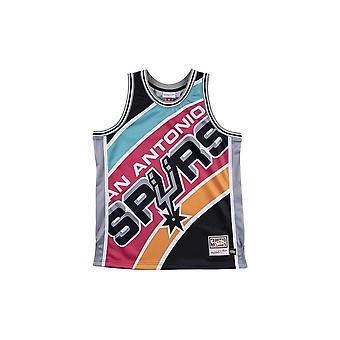 Mitchell & Ness Nba Big Face Jersey San Antonio Spurs MSTKBW19068SASBLCK universal all year men t-shirt