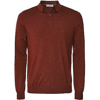 Chemise de polo à manches longues Thomas Maine Merino