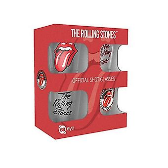 The Rolling Stones Shot Glasses (Pack Of 4)