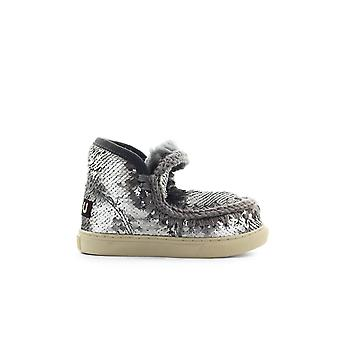 MOU ESKIMO KID ALL SEQUINS GREY SNEAKER