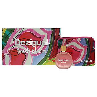 Desigual Fresh Bloom Woman Eau de Toilette 100ml & Vanity Case Gift Set For Her