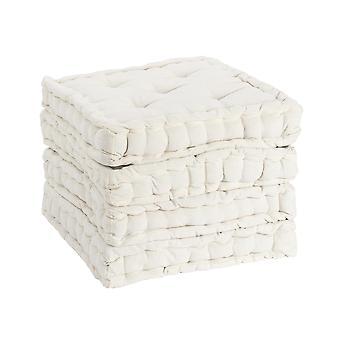Nicola Spring Square Gewatteerde Franse matras eetstoel kussen stoelpad - Crème - Pack van 4