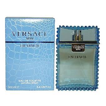 Versace Man Eau Fraiche by Gianni Versace for Men 3.4oz Eau De Toilette Spray