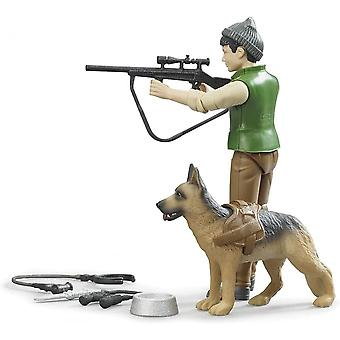Bruder - Metsänvartija koiran ja laitteiden kanssa 1:16 02660