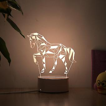 Romanttinen rakkaus 3D-lamppu sydämen muotoinen ilmapallo, akryyli led yövalo koristeellinen