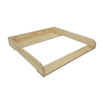Fixação sinuosa Puckdaddy Finn 80x80x10 cm feita de madeira na natureza adequada para ikea hemnes baús de gavetas