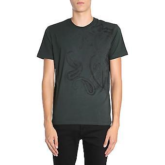 Etro 1y0209578502 Men's Green Cotton T-shirt