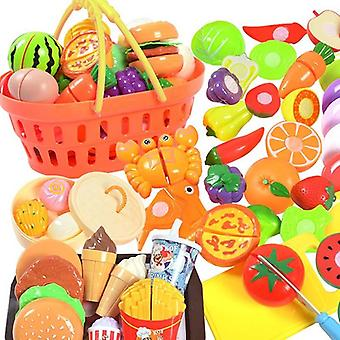 Kitchen Cutting Fruit Vegetable, Hamburger Bread, Pot, Knife, Chopping Board