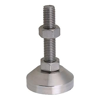 M12 Thread Stainless Steel Joint Screw Fixed Adjustable Feet Pad 5cm Dia