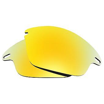 عدسات استبدال ل Oakley سترة سريعة النظارات الشمسية المضادة للخدش الذهب مرآة