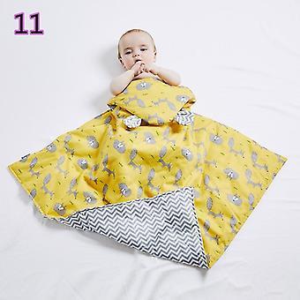 Saco de dormir de algodão, cobertor macio, colcha de berço de outono e inverno quente para o bebê