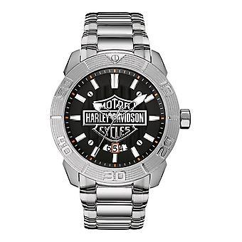 Harley Davidson 76B169 Men's Raised Brake Lever Wristwatch