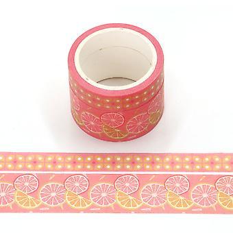 Pakke med 2 Fragrance Orange Duftende Washi Tape 4,5 m