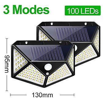 Goodland 100 Led Solar Light Lampada solare esterna Alimentato Luce solare Impermeabile Pir
