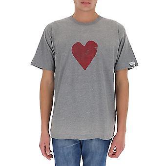 Golden Goose Gmp00784p00045360285 Män's Grå bomull T-shirt